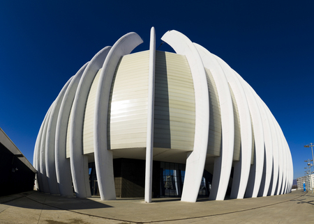 metal structure: Out side walls of sports arena in Zagreb,Croatia Editorial