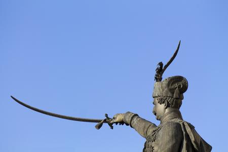 Statue of Ban Josip Jelačić in Zagreb Stock Photo
