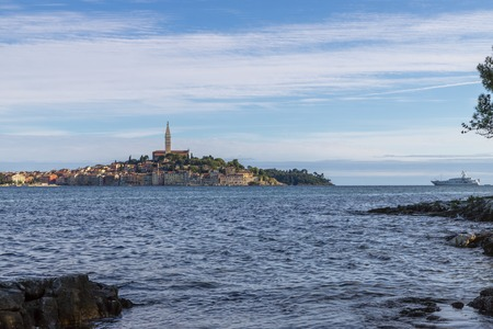 Rovinj town in Croatia on a sunny day