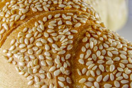 Close up of a bun with sesame seeds