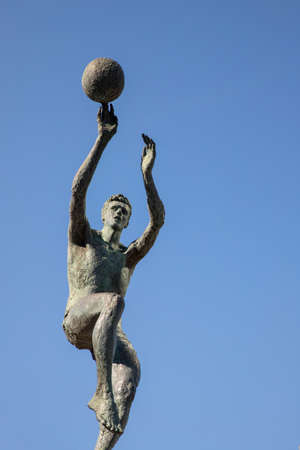 Statue of Croatian basketball player Drazen Petrovic Editorial