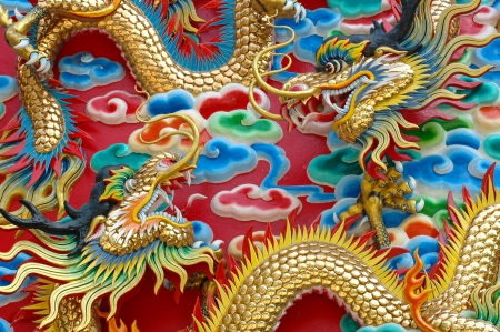 chinese temple: The dragon is the symbol of power