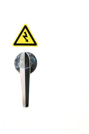 electroshock: The symbol of electroshock on the white background