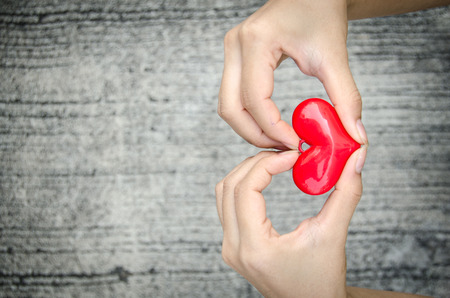 heart of love: The heart shape with hands for telling love Stock Photo
