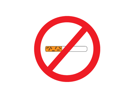 31th: The sign of symbol Stop Smoking on the white background. Stock Photo