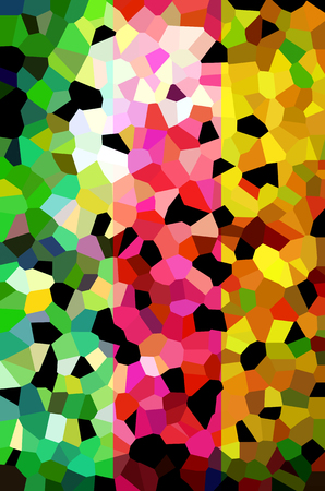 become: The abstract shape with several colors become the background.