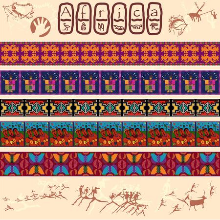 Clipart of African motifs Vettoriali