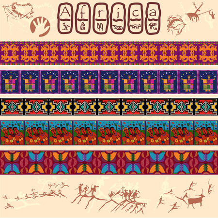 ancients: Clipart of African motifs Illustration