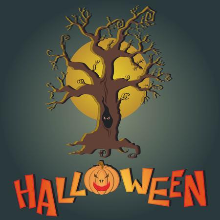 dire: Vector post card for Happy Halloween