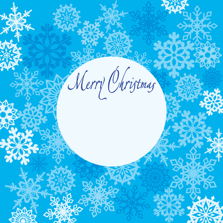 joyfulness: Greeting card Merry Christmas with snowflakes