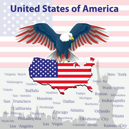 independency: Background with eagle - a symbol of America!