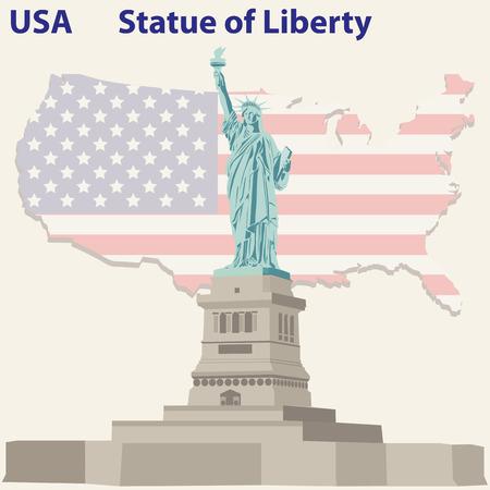 미국의 자유의 여신상 일러스트