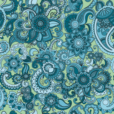 Seamless colorful cucumber pattern. Perfect for printing on fabric or paper. Vector Çizim