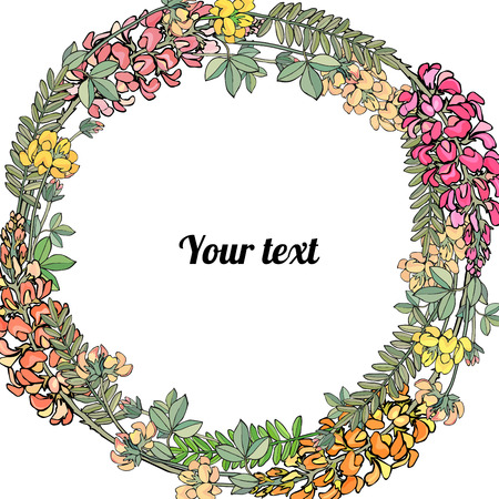 Frame of wildflowers with place for a text.