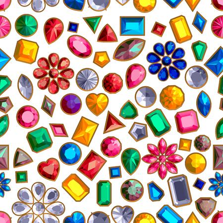 Ensemble de vecteur de bijoux de pierres précieuses réalistes isolés sur fond blanc avec différentes coupes. Bijou taille princesse. Bijou taille ronde. Bijou taille émeraude. Bijou taille ovale. Bijou taille poire. Bijou taille coeur.
