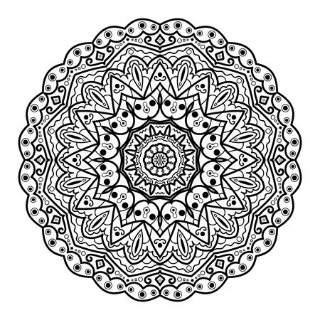 Flower Mandala. Vintage decorative elements. Oriental pattern. Ilustração