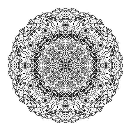 Flower Mandala. Vintage decorative elements. Oriental pattern 矢量图像