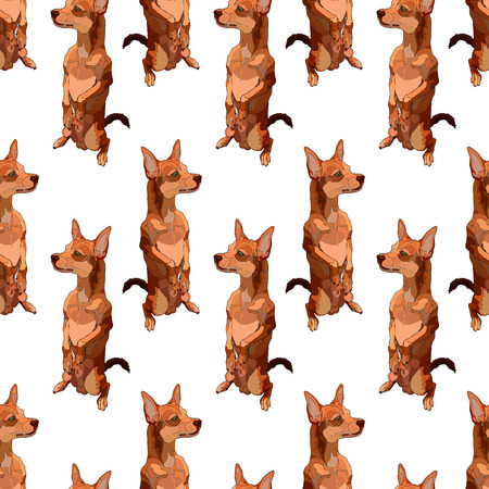 Seamless background with dogs. Perfect for scrapbooking, print in textile. Vector illustration, EPS 10.