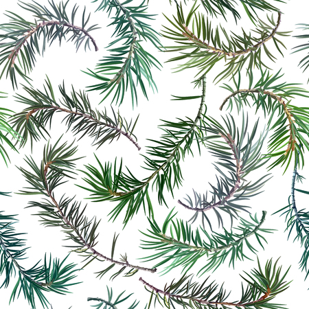 Seamless background with fir tree. Perfect for New Year and Christmas. Vector illustration, EPS 10. Stock Illustratie