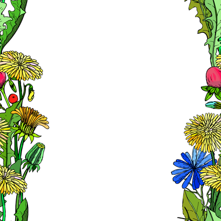 Seamless background with flowers Perfect for greeting card. Vector illustration, EPS 10