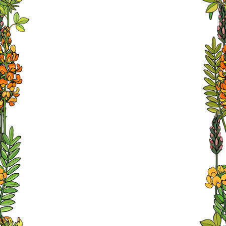 Seamless background with flowers. Perfect for greeting card. Vector illustration, EPS 10