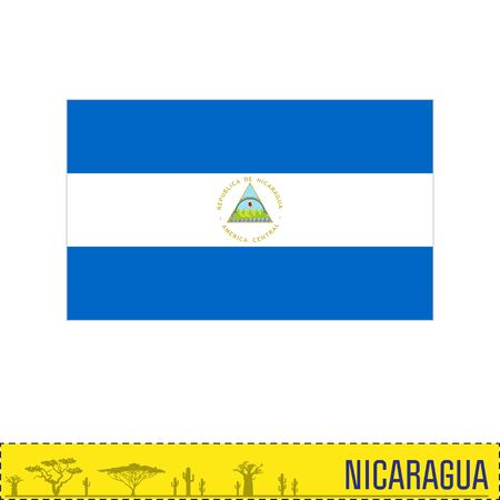 Vector highly detailed flag of Nicaragua. EPS 10