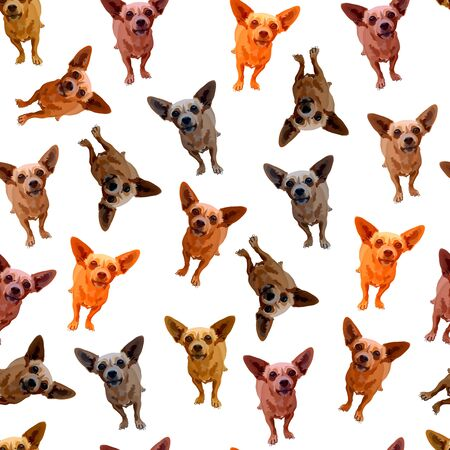 Seamless background with dogs. Vector