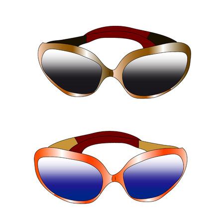 Sunglasses couple Vector Illustration