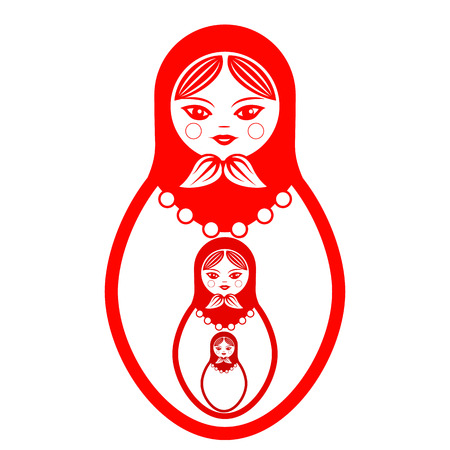 Russian doll icon.