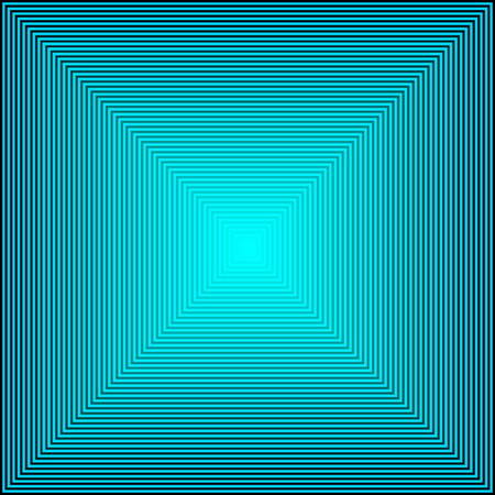 Abstract Perspective depth of a blue square, (Futuristic design) such as a tunnel with a bright flash of light at the end. Luminous background for insert text or design, vector