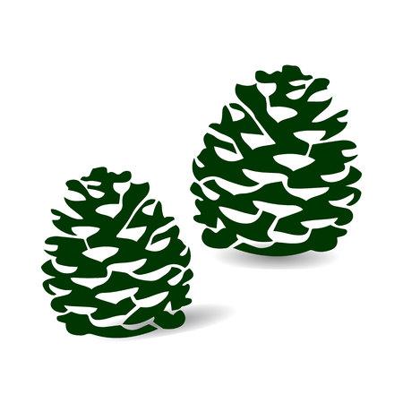 Pine cone Dark green