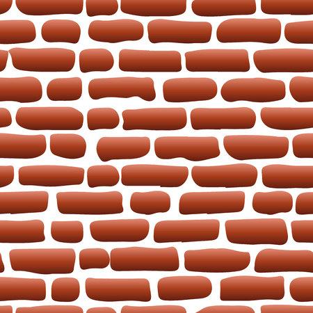 Oude bakstenen muur Rode naadloze achtergrond illustratie - structuurpatroon voor continu repliceren, vector Stock Illustratie