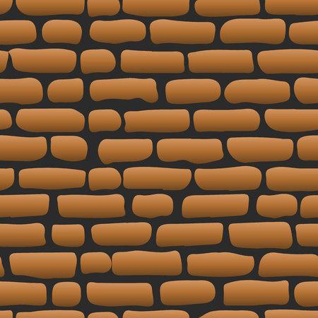 Oude bakstenen muur Bruine naadloze illustratie als achtergrond - textuurpatroon voor ononderbroken herhaling, vector Stock Illustratie
