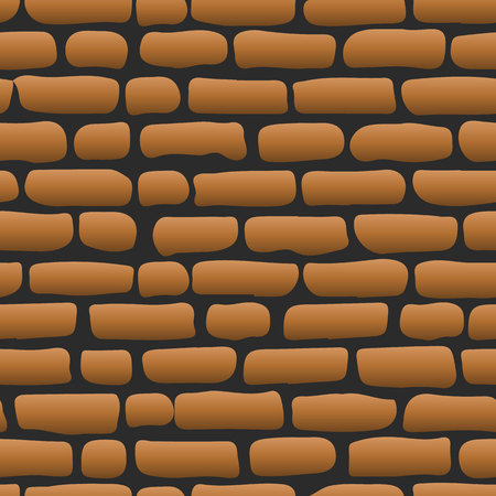 Old brick wall Brown seamless background illustration - texture pattern for continuous replicate, vector Illustration