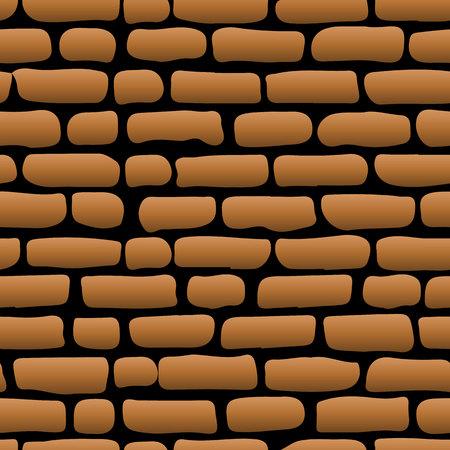 Bruine baksteenachtergrond voor decoratie, op een zwarte achtergrond,