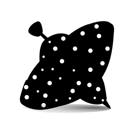 Childrens toy Yula, silhouette of polka dots on a white background, vector Ilustrace