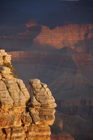 south rim: The Sunrise at south rim of Grand Canyon makes all the cliffs different.