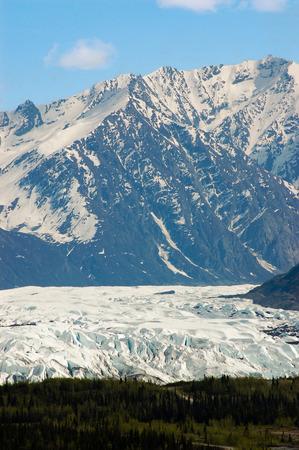 glenn: The beautiful scenery of Matanuska glacier has been easily seen from the Glenn highway. Stock Photo