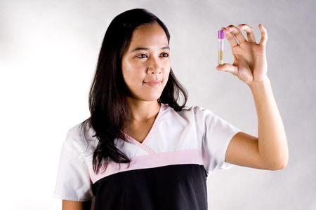 urinalysis: Test tube