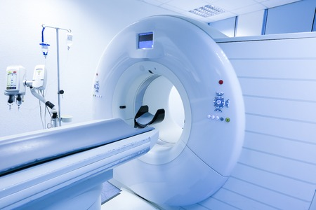 mri scan: CT (Computed tomography) scanner in hospital laboratory.