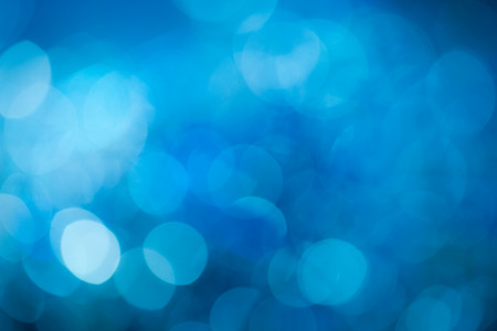 extravagant: Blue festive New YearÕs background. Abstract with bright twinkles, sparkles, blurred, defocused light.