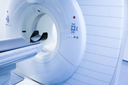 病院中央検査室では CT (Computed 断層撮影)、スキャナー。
