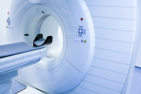 cns: CT (Computed tomography) scanner in hospital laboratory.