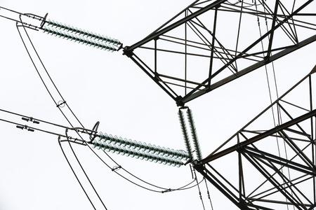 isolator high voltage: Isolator, pylon and power lines