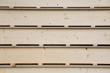 prefabricated buildings: Wooden panels prepared for building and installation