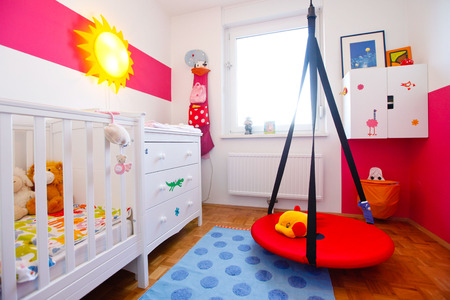 play room: Kids room with swing and toys