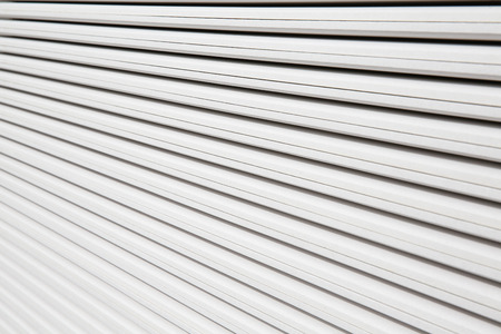 Stack of white plasterboard panels Stock Photo