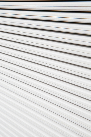Stack of white plasterboard panels photo