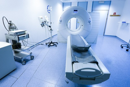 computer tomography: CT (Computed tomography) scanner in hospital laboratory.