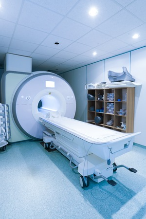 cns: Magnetic resonance spectroscopy machine in hospital laboratory.